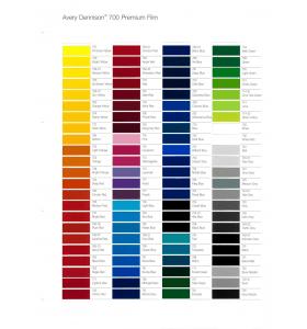 Kleurenkaart Avery 700