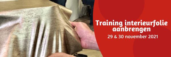 Training interieurfolie aanbrengen - 29 en 30 november