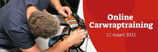 Online Carwraptraining - 11 maart